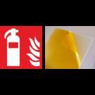 Hinweiszeichen, Feuerlöscher, Kunststoff, selbstklebend