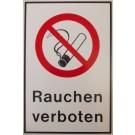 Verbotszeichen: Kombischild: Rauchen verboten, Kunststoff
