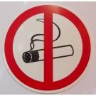 Verbotszeichen: Rauchen verboten, Kunststoff